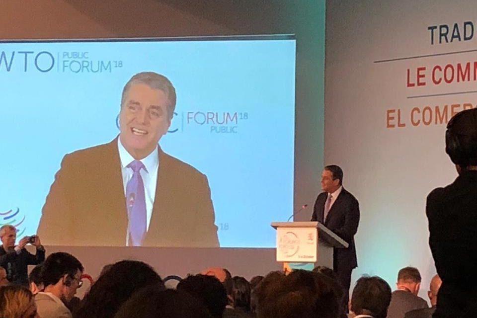 Fórum Público da Organização Mundial do Comércio 2018 e o Comércio em 2030. Momento de grandes reflexões.