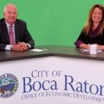 Bill Donnell, President/CEO of NCCI and Jessica Del Vecchio, Manager of Boca Raton Office of Economic Development