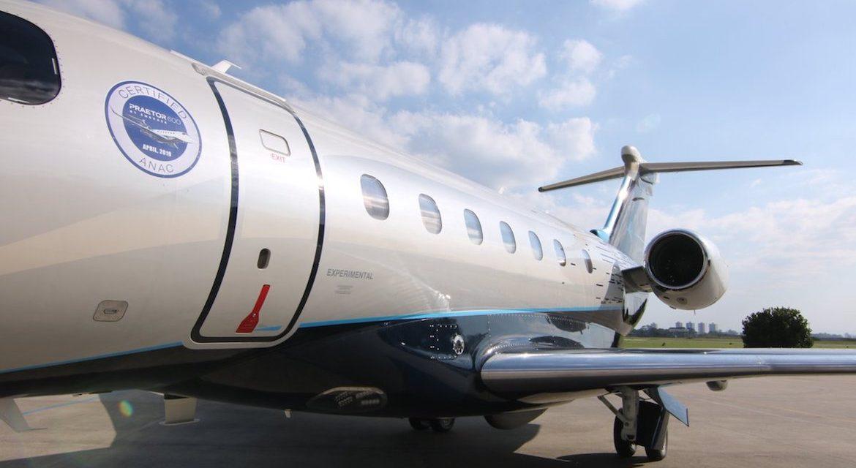 Novo jato executivo Praetor 600 da Embraer realiza sua primeira travessia transatlântica, abastecido por biocombustível