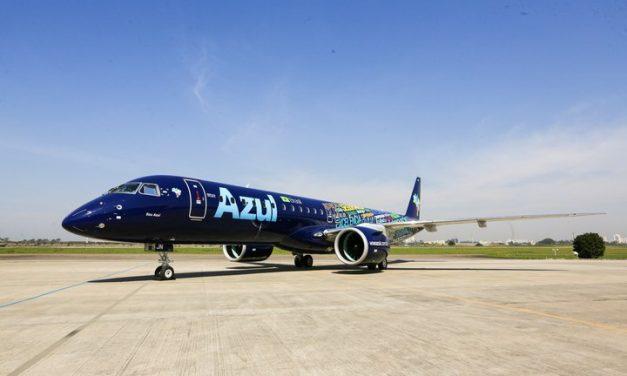 Embraer entrega primeiro jato E195-E2 à AerCap e à Azul