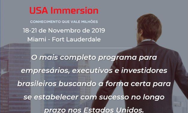 USA Immersion começa nesta segunda (18) em Fort Lauderdale