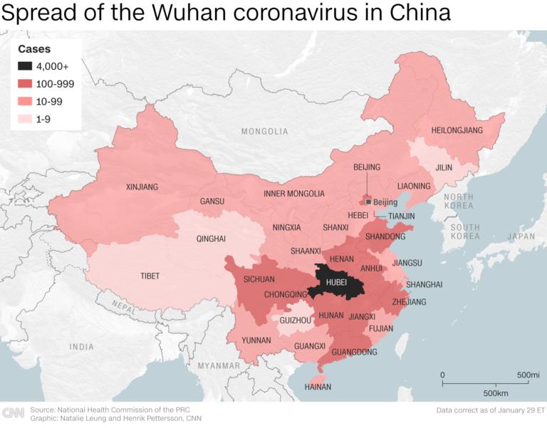 Custo do coronavírus pode ultrapassar $70 bilhões para a China