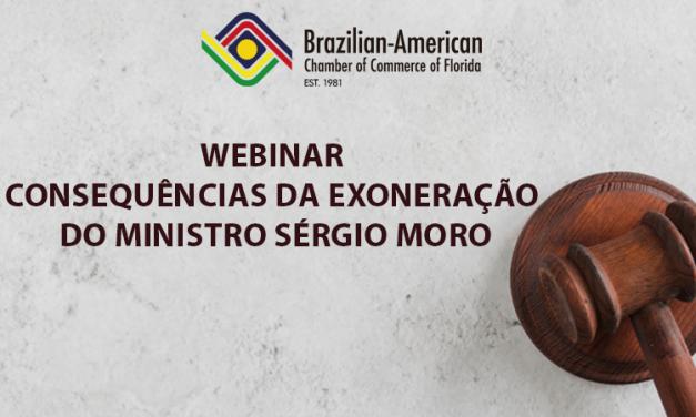 BACCF terá webinar gratuito sobre exoneração de Sergio Moro