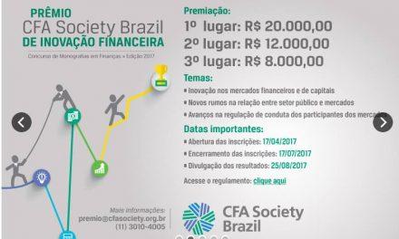 CFA Society Brazil prorroga prazo de envio de trabalhos acadêmicos para a 4ª edição do prêmio para Monografias em Finanças