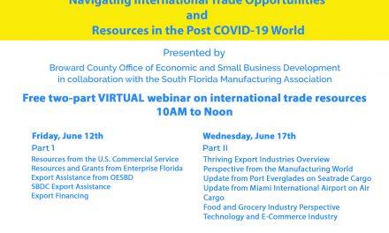 Webinar sobre comércio internacional promovido pelo condado de Broward