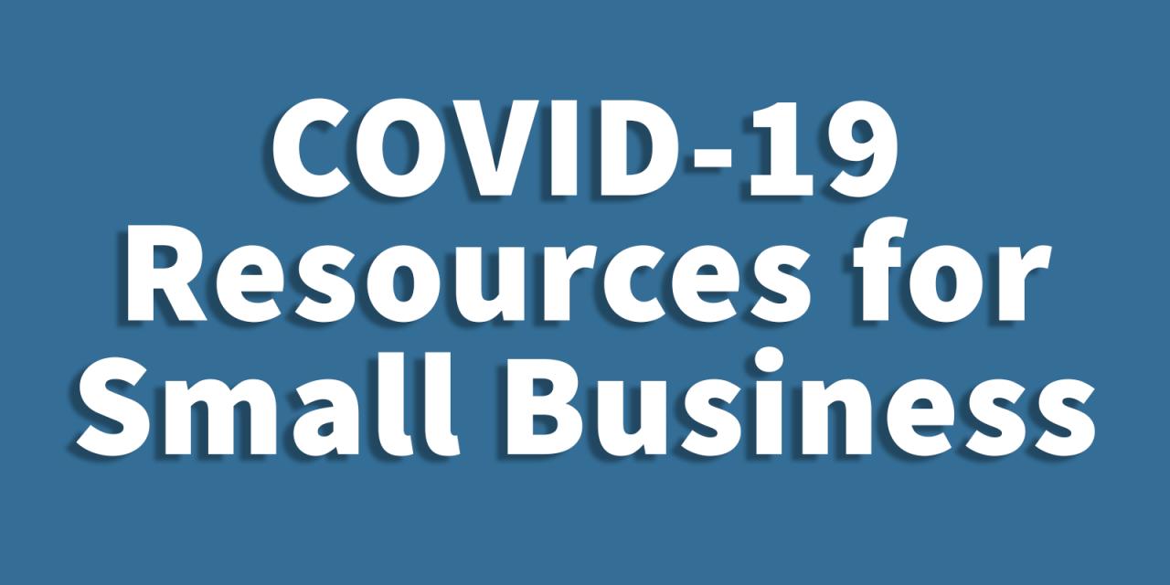 Recursos covid-19 para pequenas empresas