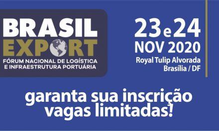 Brasil Export 2020 reúne setor portuário e autoridades em Brasília