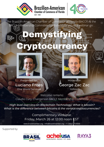 Demystifying Cryptocurrency é tema do evento da BACCF