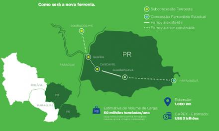 Nova Ferroeste estima receber investimentos na ordem de R$ 20 bilhões