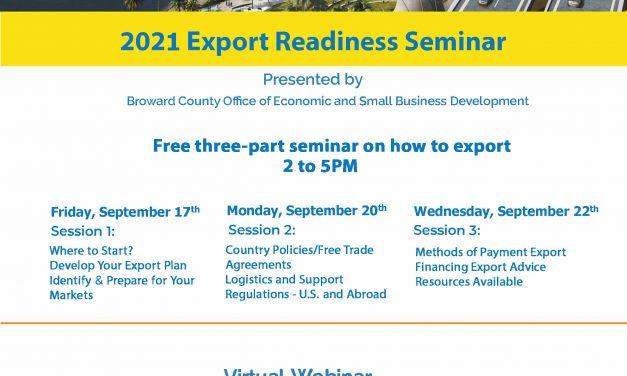 Dicas para exportadores em Broward