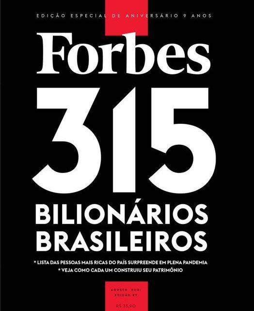 Lista de bilionários brasileiros é destaque na edição de aniversário da Forbes na edição de aniversário da Forbes